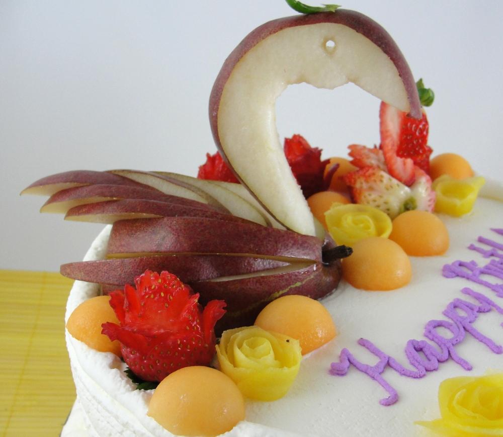 LBC 13O - Swan Fruit Cake - Pear Swan.jpg