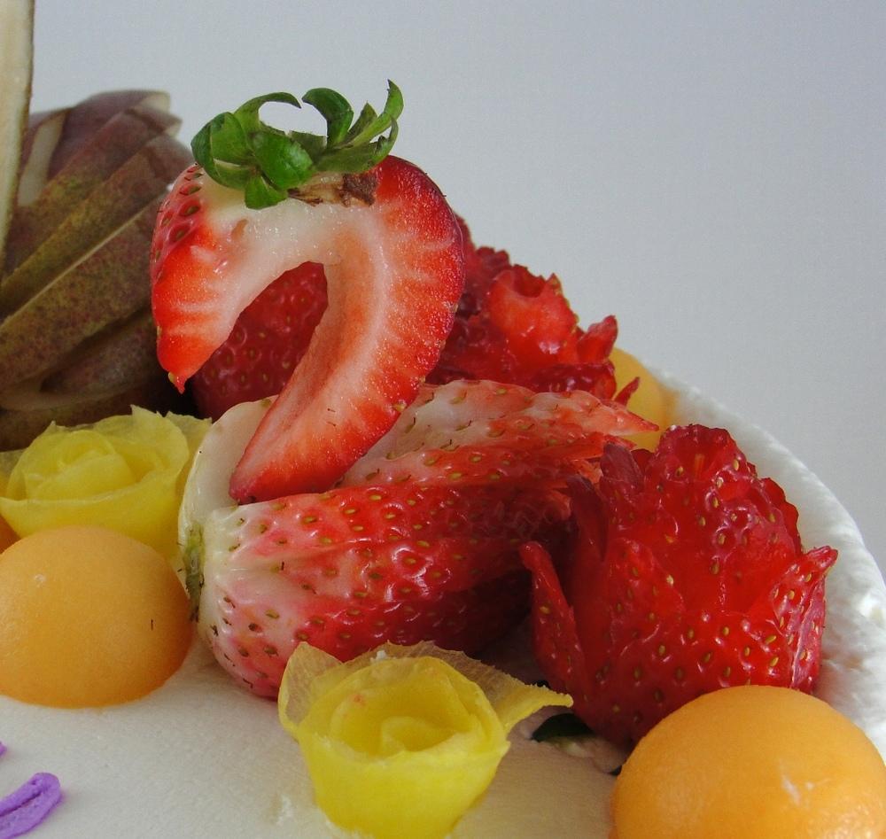 LBC 13O - Swan Fruit Cake - Strawberry Swan.jpg