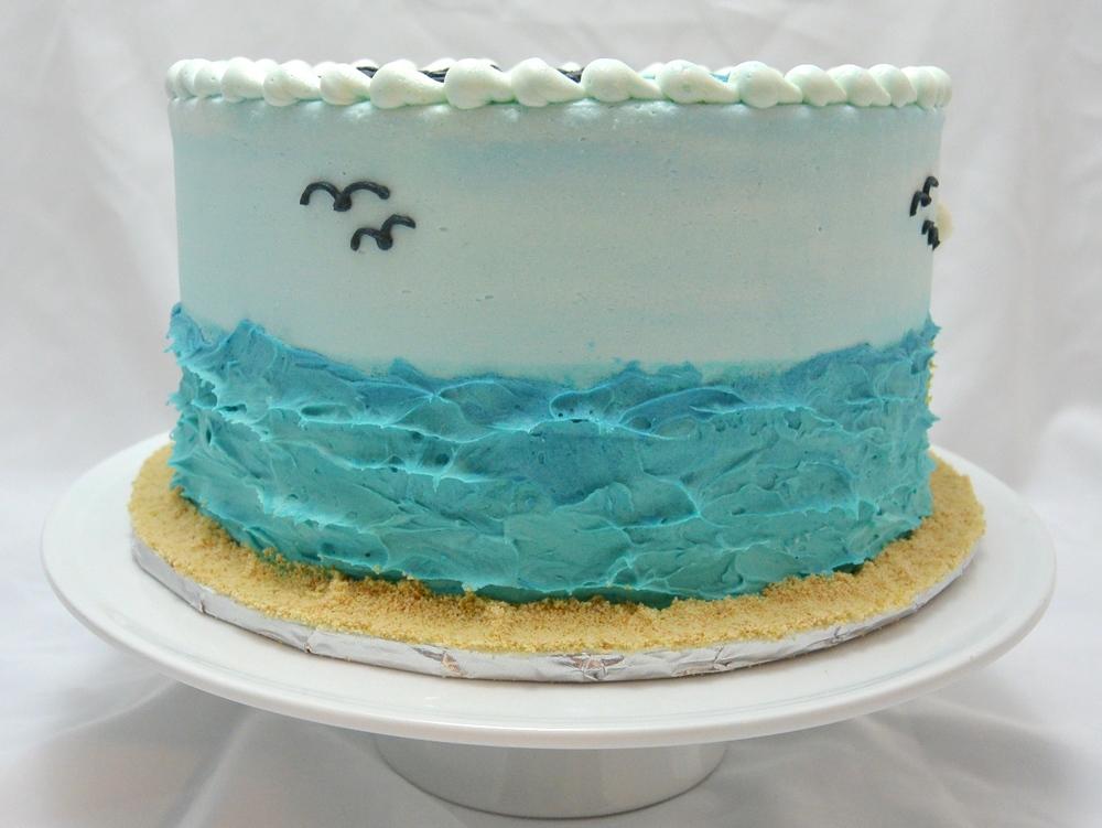 LBC 1432 - Beach Inspirational Birthday Cake - Left.jpg