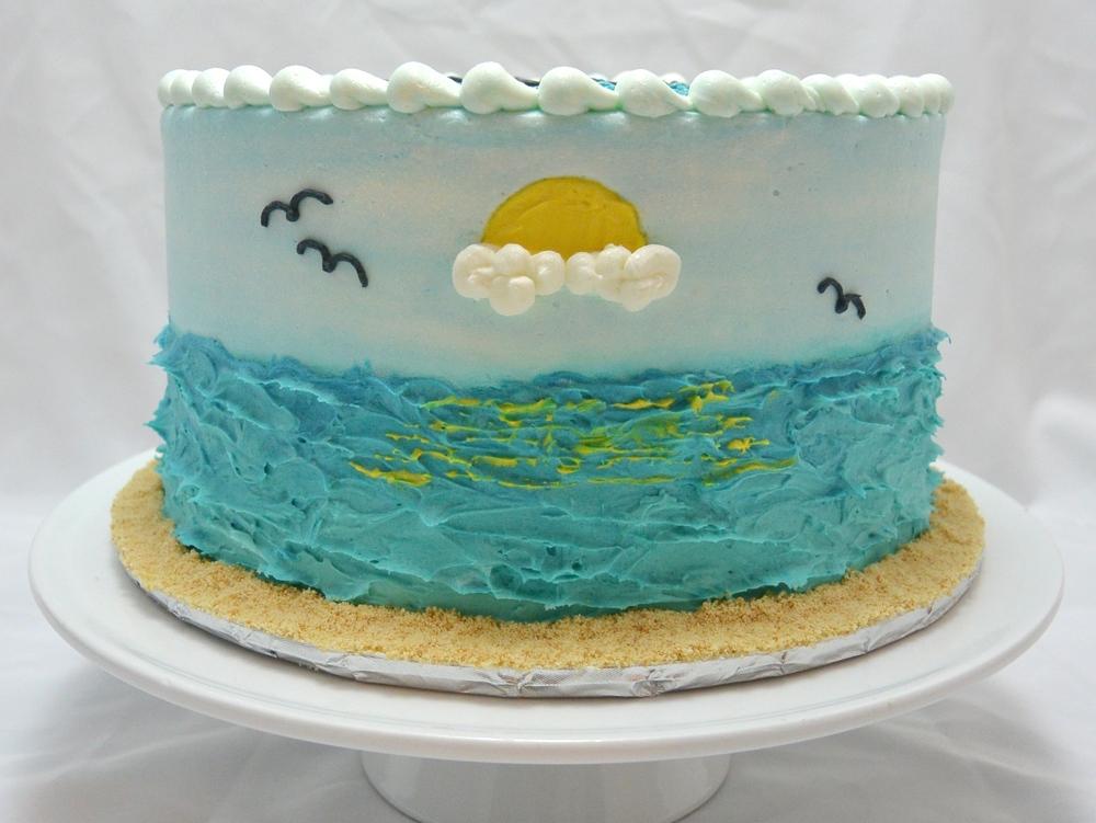 LBC 1432 - Beach Inspirational Birthday Cake - Front.jpg