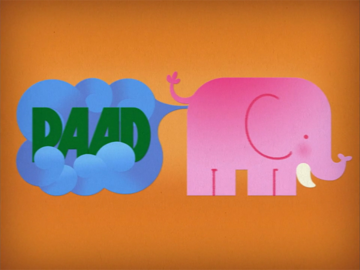 Thing X/Adult Swim: Paad Production Card