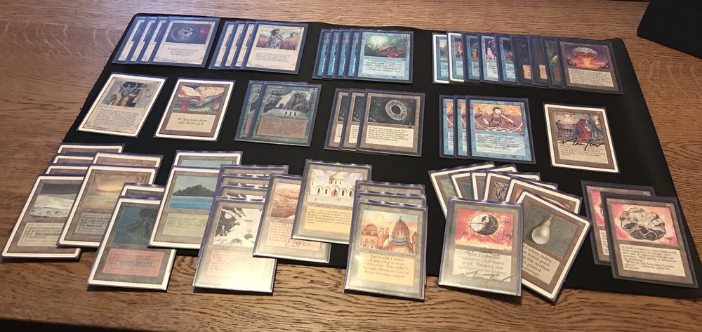 This is the deck right now. Except for the Timetwister which I now have cut.