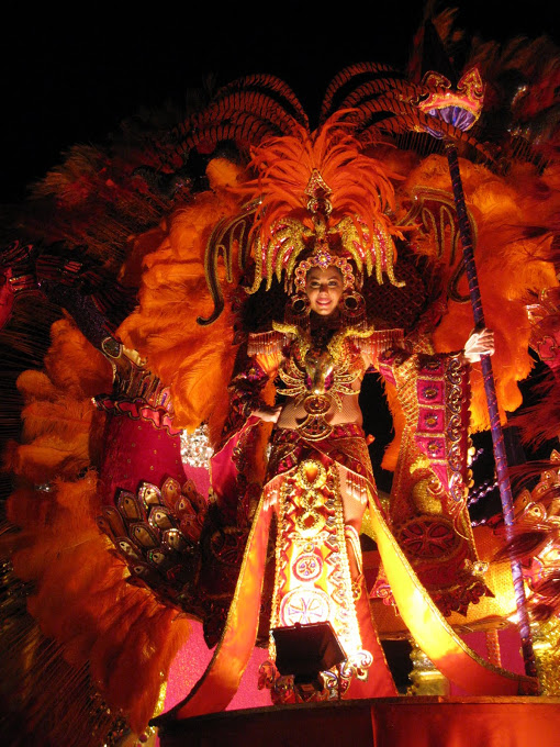 Elaborate costumes at Carnaval in Las Tablas, Panama.