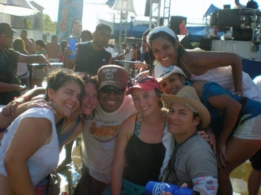 Ari and friends in Las Tablas in 2010.
