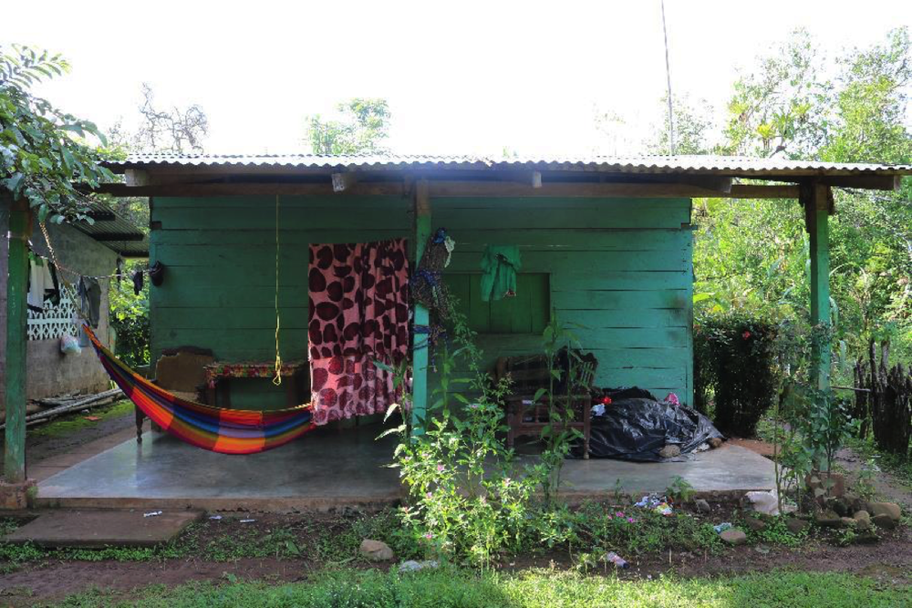 Doris's home in Quebrada Guabo.