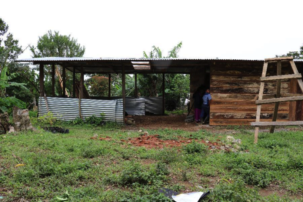 The work-in-progress community center where Ramon held his meeting.