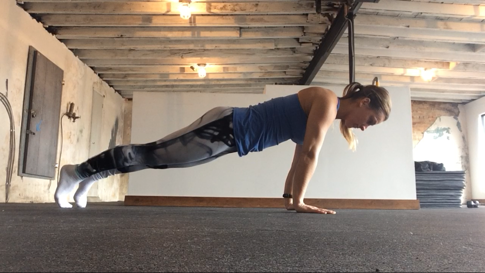 You mayalso find planking from your hands a little easier than doing so from your forearms!