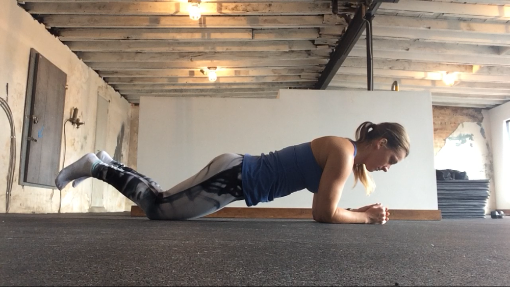 Drop your knees to make this exercise a little easier, but be careful not to let your bum shoot up into a tabletop position!