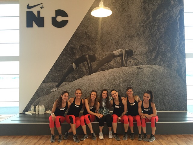 The Toronto NTC Trainers with the amazing Jess of the Nike Canada Women's Team.