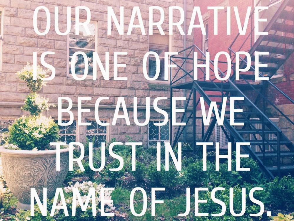a narrative of hope