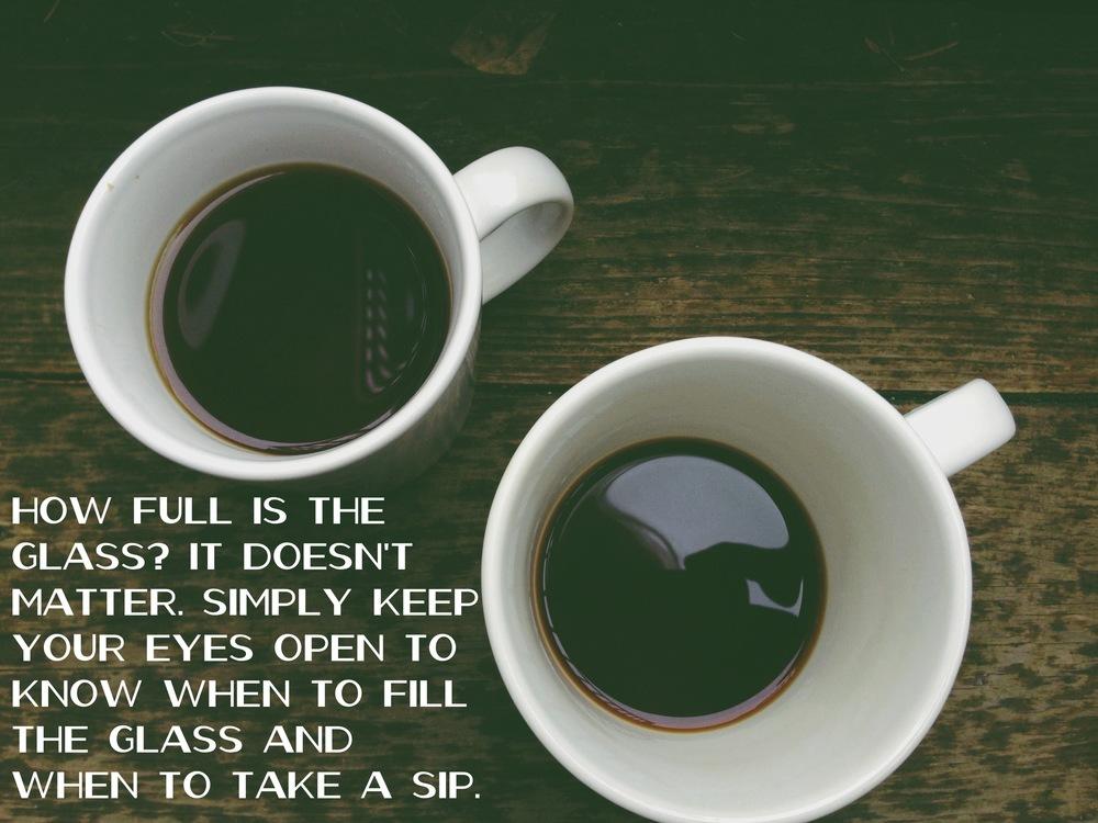Fill the glass via nadinewouldsay