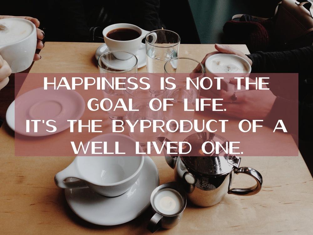 the key to happiness via nadinewouldsay