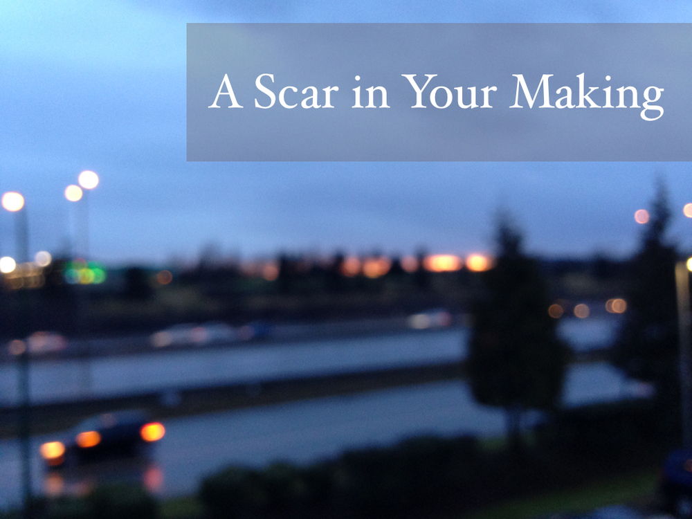 nadinewouldsay fiction piece a scar in your making