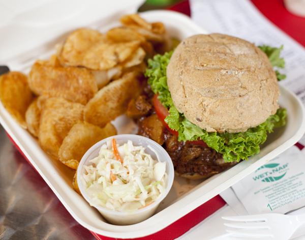BBQ Seitan Sandwich @ United BBQ, Providence, RI