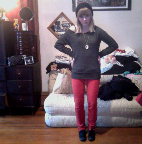 Yay! I found my red pants!