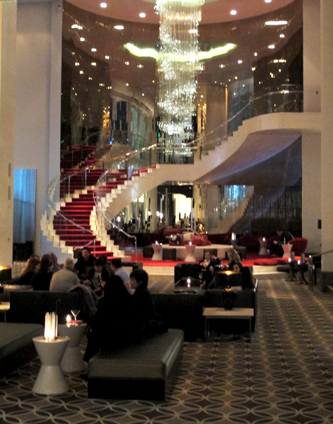 The W Hotels lobby.