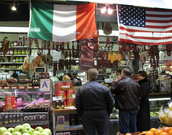 I spent the day with Rocchio in Little Italy in the Bronx buying and eating Italian food for a dinner that night.