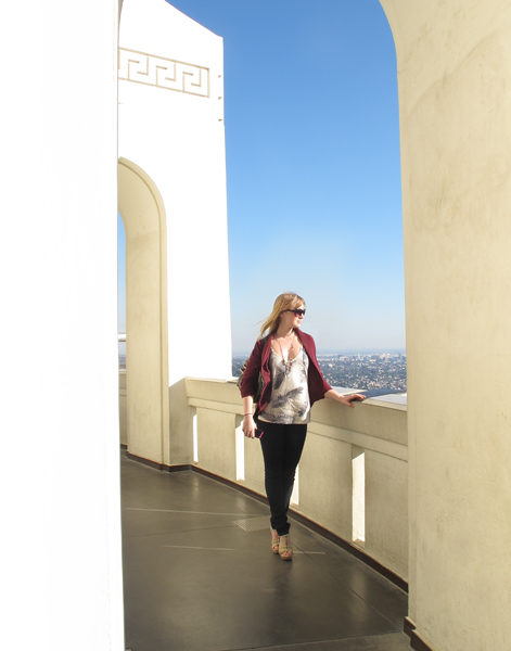 Bailey at Griffith Observatory.