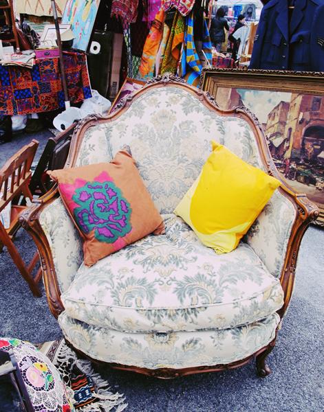 More Brooklyn Flea. I love chairs.