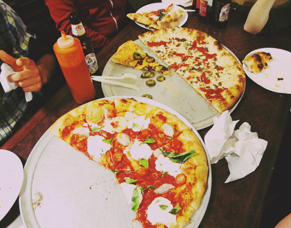 Blackbird's Amazing vegan Pizzeria in Philly. So good.