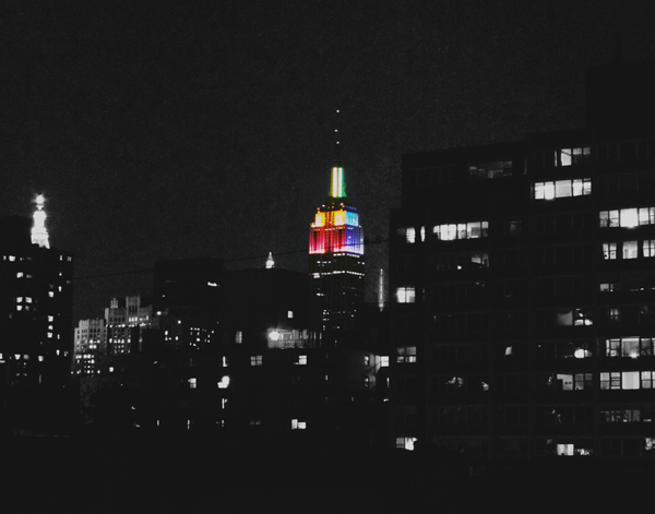 The Empire State Building last week from a rooftop in the East Village.