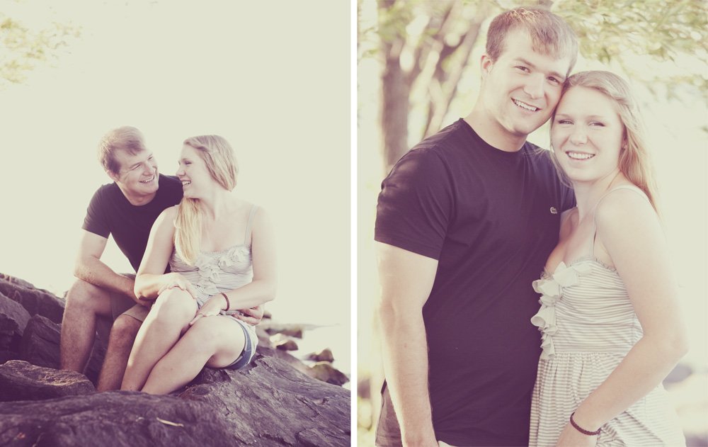 Photographed Caitie & Tanners engagement photos over the 4th of July!