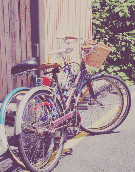 No more car. Straight biking everywhere!