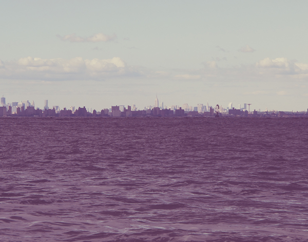 On clear days you can see NYC from the shore.