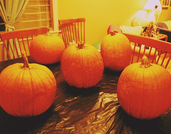 Spent an evening pumpkin carving!