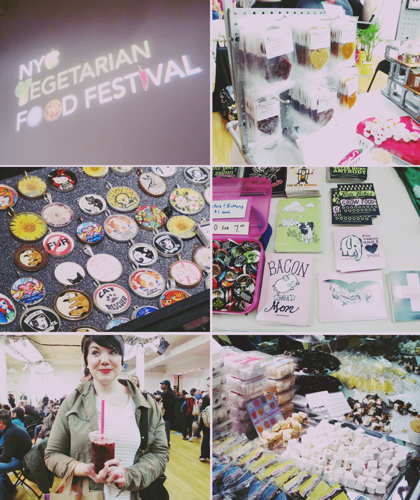 I spent a few hours at the NYC Vegetarian Festival, where I ate way to many samples and fought through crowds of veggie lovers.