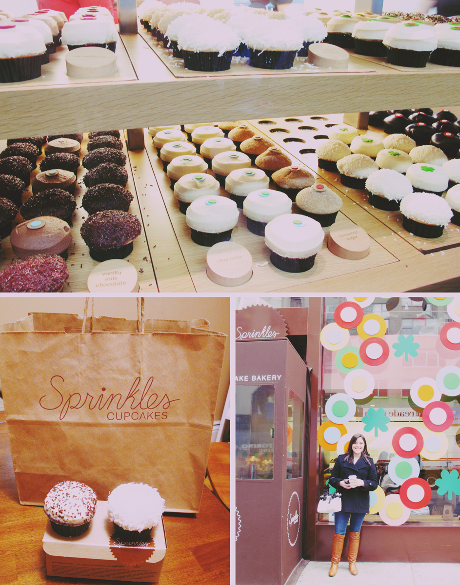 Erin knew about Sprinkles cupcakes so we had to make a stop there too!