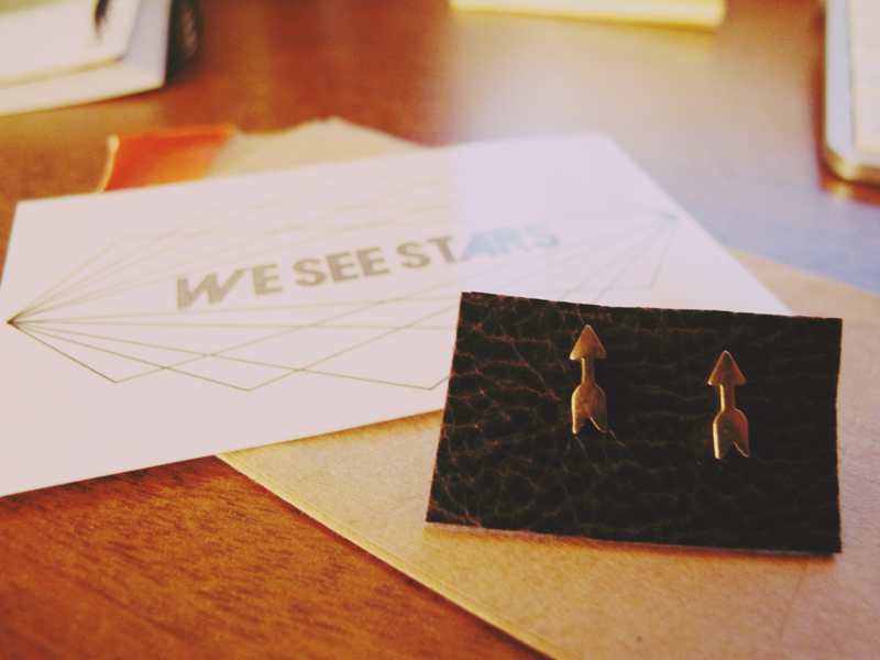 New earrings from we see stars.
