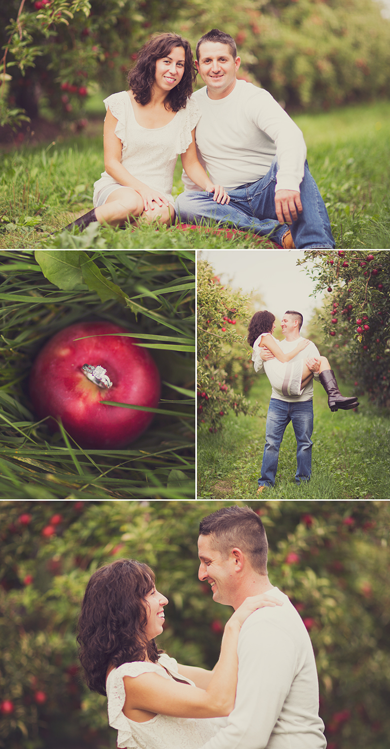 My cousin Nicole is getting married this upcoming summer! Had a great time photographing her and Ace in the apple orchard!
