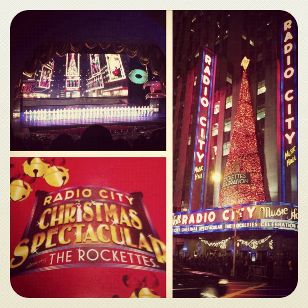 First year at the Christmas spectacular #nyc #christmas @owls_tattoo @sistigirl @kimisisti