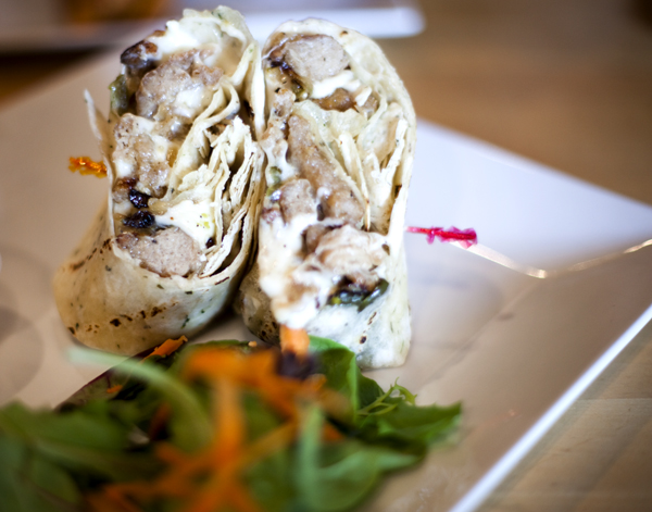 Health, Love, & Soul Juice Bar in New Jersey. Soy chicken and Mozzarella Wrap. Such good food at this place.    http://www.hlsrestaurant.com/