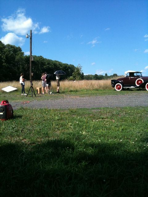Spent the day in Bucks County on set for Bonnie & Clyde.
