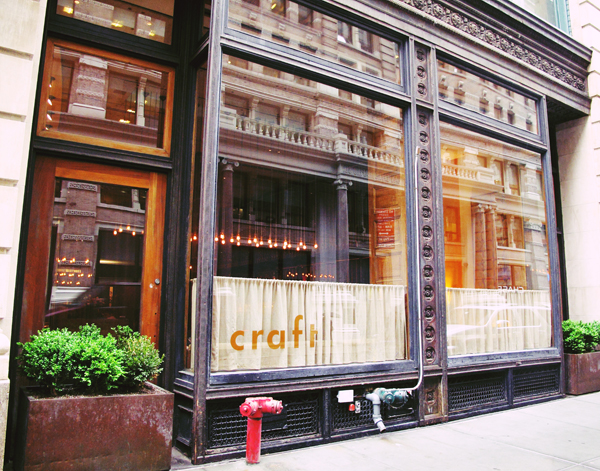 I was extremely lucky and got to have a free dinner at Craft restaurant in nyc this week. The staff is amazing, the food is delicious, and the place is beautiful. I had broccoli rabe, hen of the woods mushrooms, potato puree, and smores chocolate mousse for desert. All was seriously amazing.