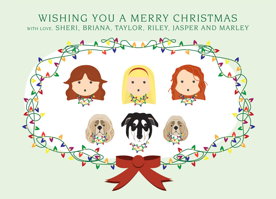 These were our Christmas cards this year!    Done by the lovely Amanda Sisti    http://amandasisti.com