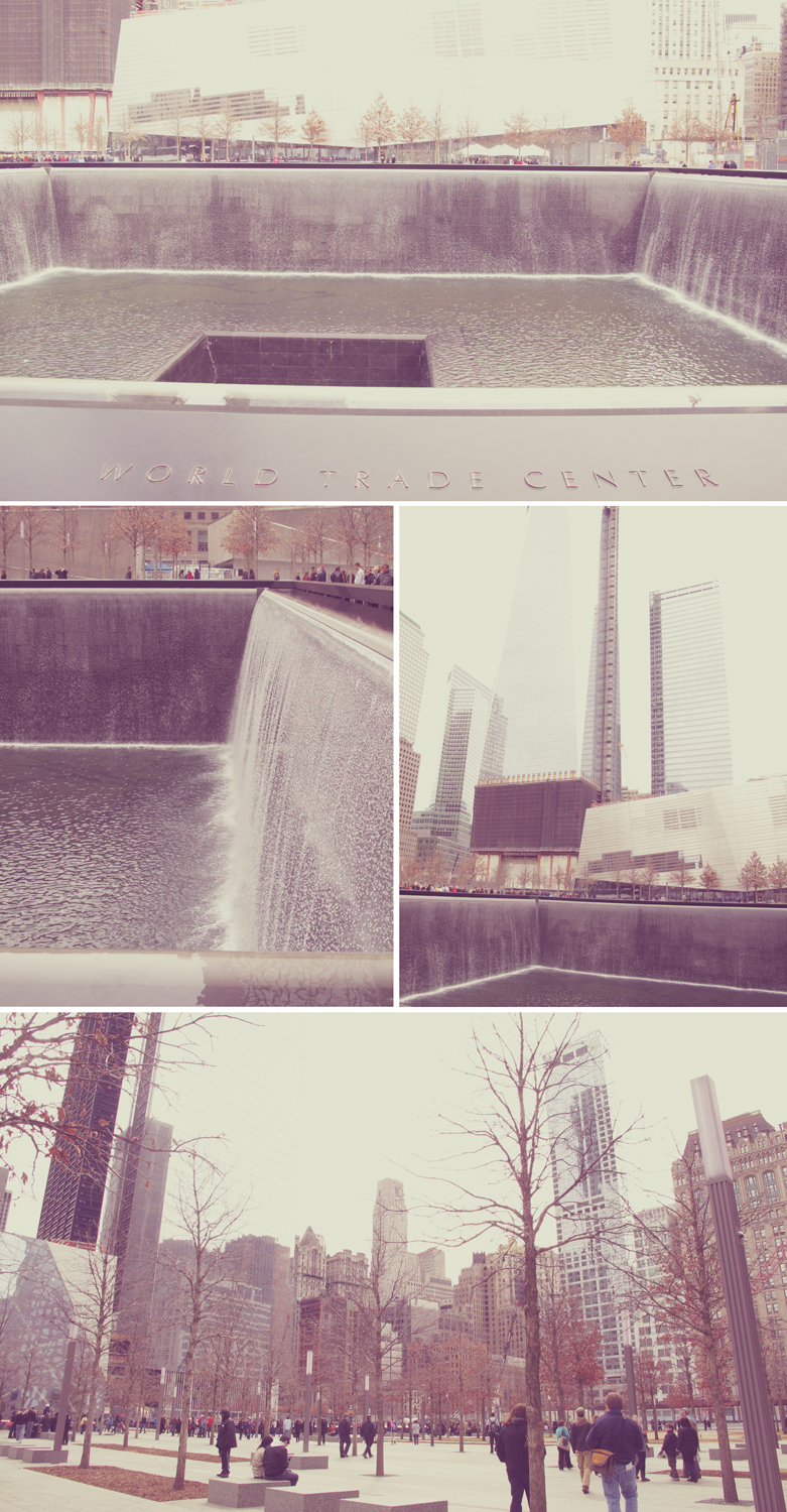 Finally visited the World Trade Center Memorial. Its really beautiful and the sound of the water drowns out all the noise in the city. I cant wait til they open the park area permanently.