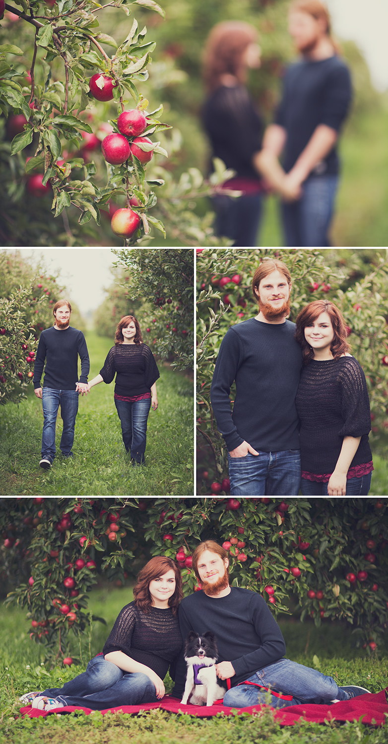 This past weekend I was home in Rochester and of course had a million different portrait sessions with people there. I literally spent the entire day in a beautiful apple orchard photographing multiple couples and families. It was an uncommonly warm 70 degree day in October and was perfect for pictures. So expect a lot of apple orchard photographs coming up. Jamie & Ryan
