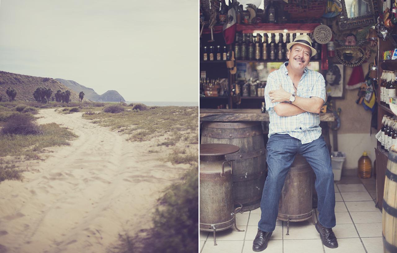 Ernesto sells Tequila & Cigars La Cachora Beach Todos Santos, Mexico