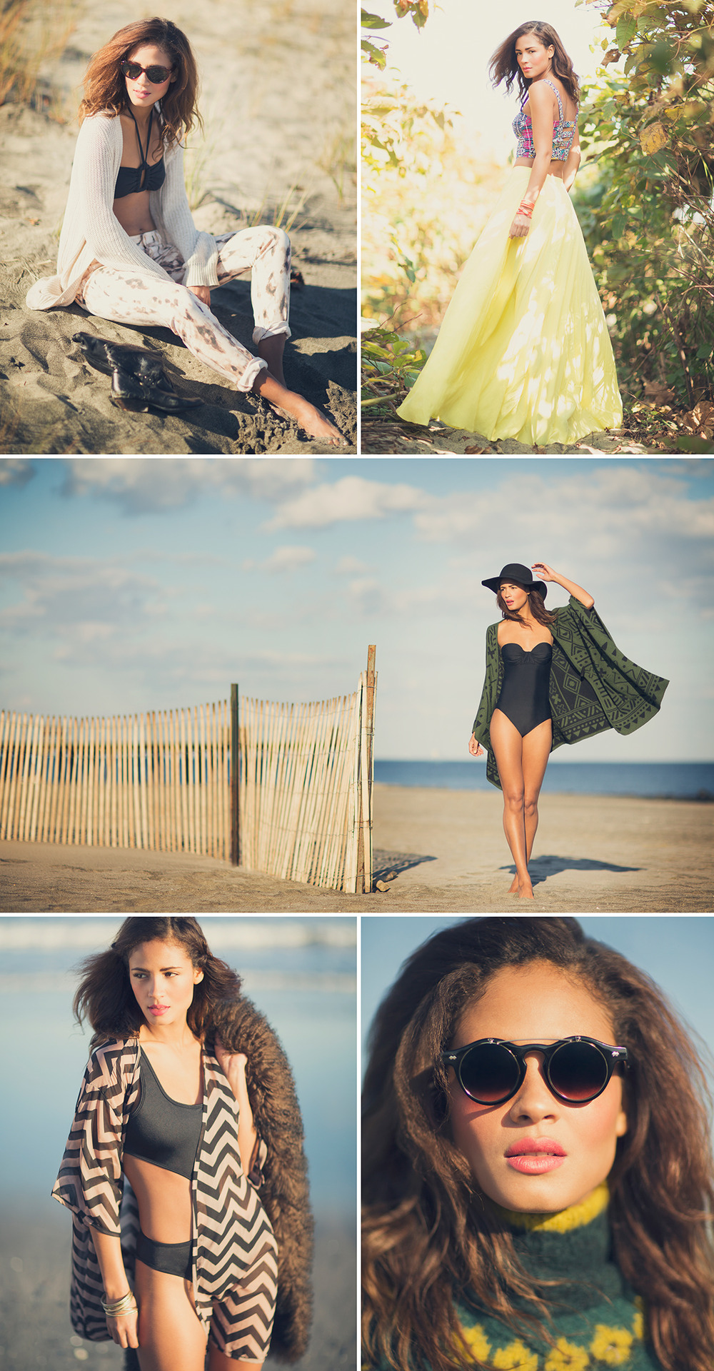 """Endless Summer""   Photography: Bri Johnson   Hair/MUA: Maria Yeye   Stylist: Karlyn Waldschmidt   Model: Ana Paula (Q Management)"