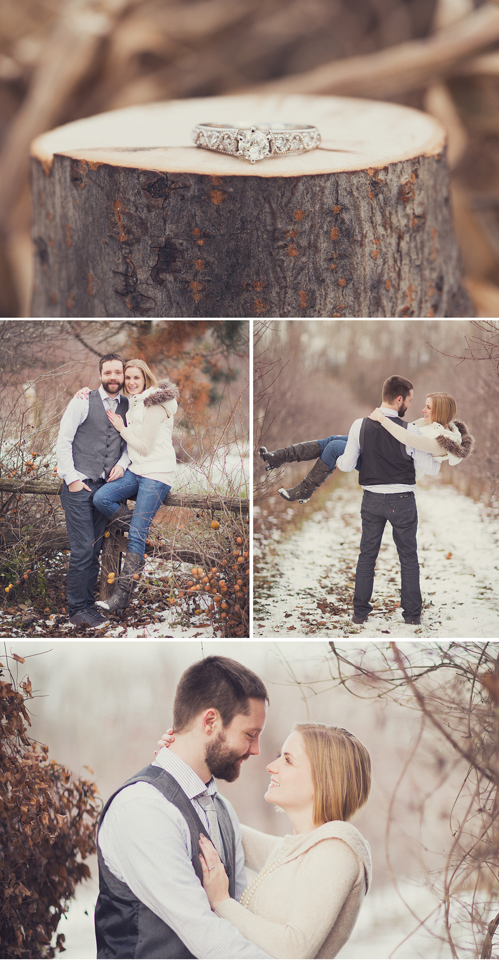 Another beautiful but cold winter engagement shoot! Stacey & John!