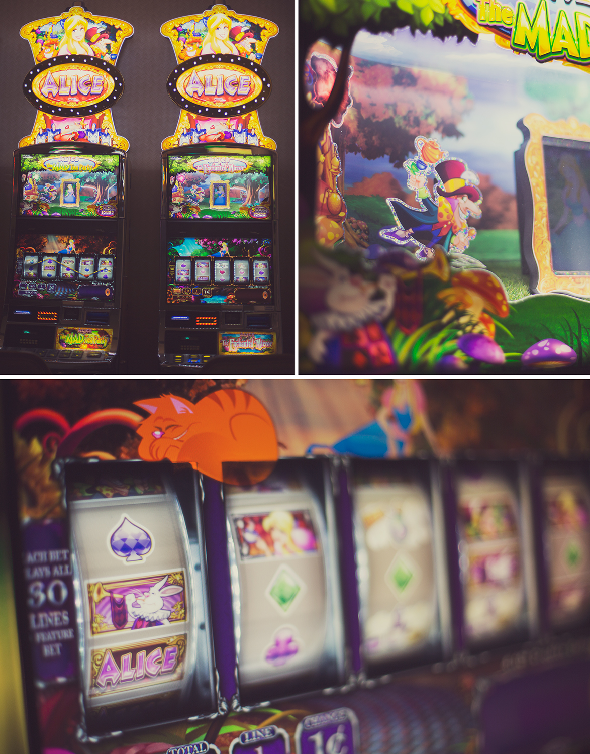 I may or may not have become addicted to slots. Alice, Mermaid, The Unicorn, and Kitty Glitter are my favs!