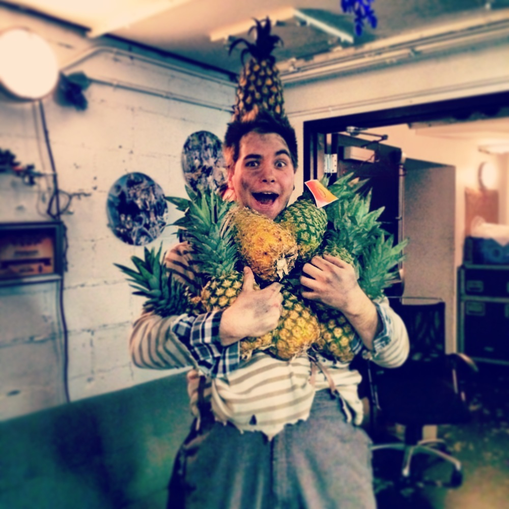 "Nate Miller as Ted, Backstage at ""Peter and The Starcatcher"""