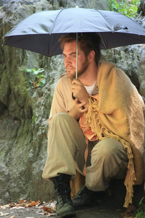 "Nate Miller as Benedick in ""Much Ado About Nothing"" w/ Boomerang Theatre Co."