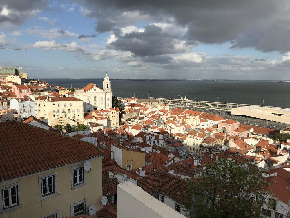 Rooftops of the Alfama neighborhood in Lisbon