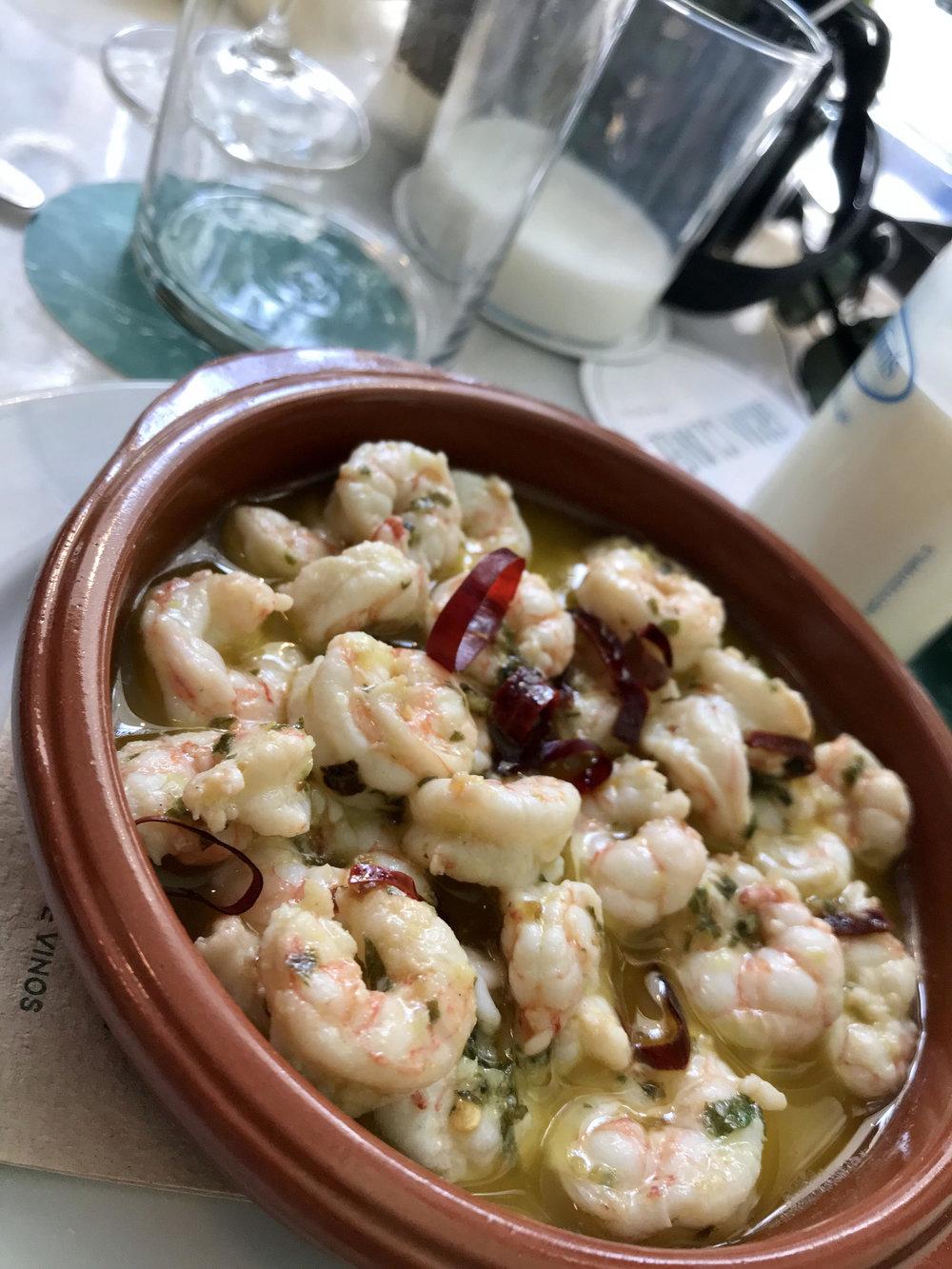 Spoiled with shrimp in Porto