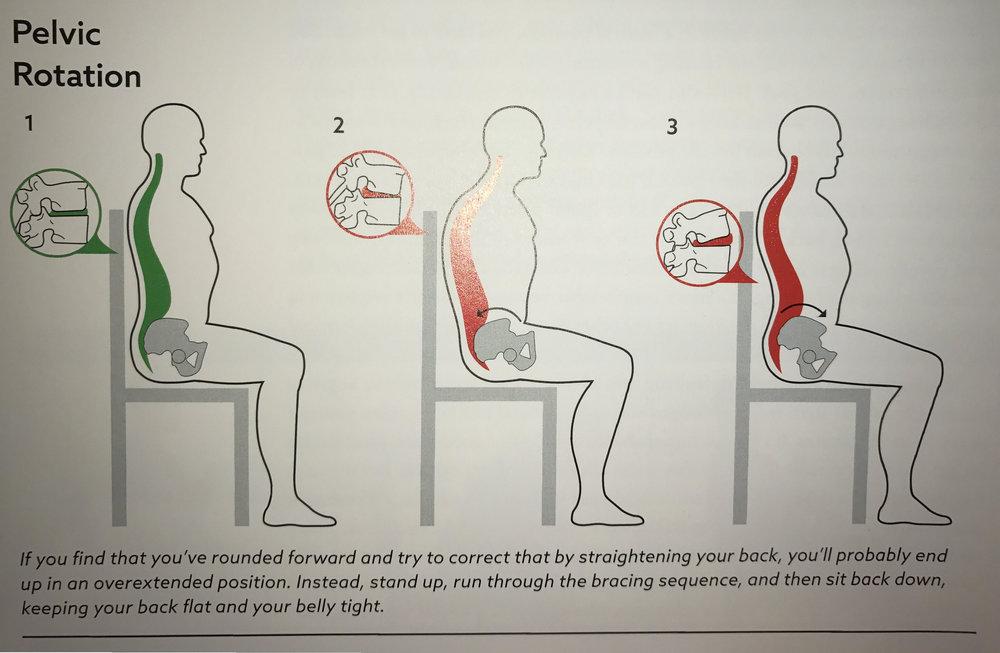 Image 6: Pelvic Rotation While Sitting