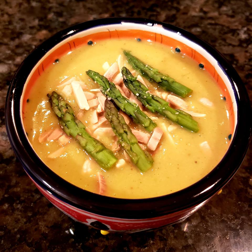 HEALTHY INSTANT POT CREAM OF ASPARAGUS SOUP